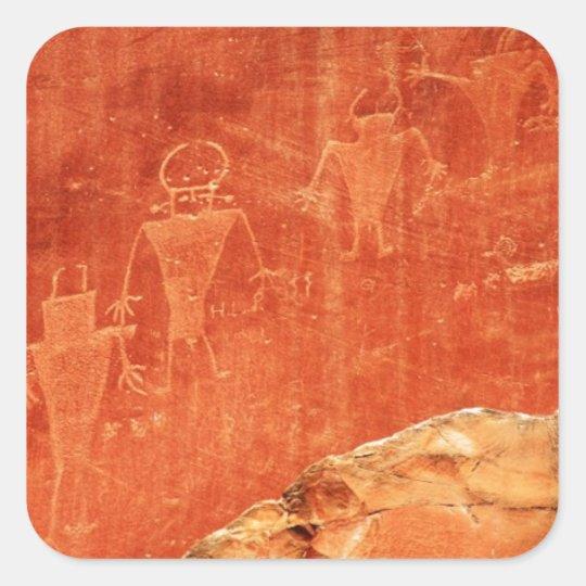 Capitol Reef Petroglyphs Square Sticker