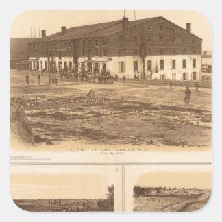 Capitol, Richmond Libby Prison Square Stickers
