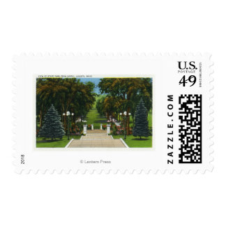 Capitol Steps View of the State Park Postage