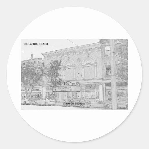 CAPITOL THEATRE - MACON, GEORGIA CLASSIC ROUND STICKER