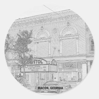CAPITOL THEATRE - MACON, GEORGIA ROUND STICKER