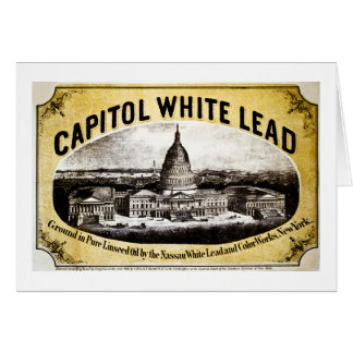 Capitol White Lead 1866 Greeting Card