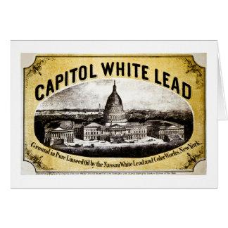 Capitol White Lead 1866 Card