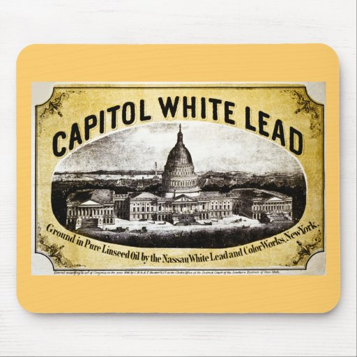 Capitol White Lead 1866 Mouse Pad