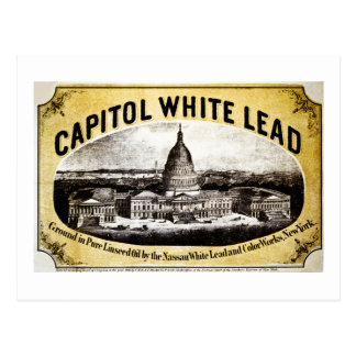 Capitol White Lead 1866 Postcard