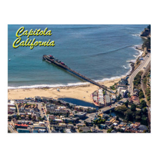Capitola California From Above Postcard