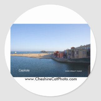 Capitola California Products Classic Round Sticker