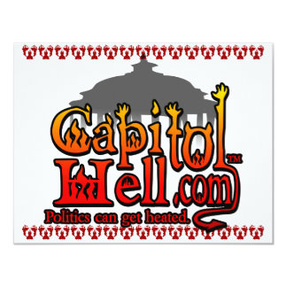 """CapitolHell.com Invitación 4.25"""" X 5.5"""""""