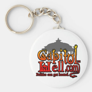 CapitolHell.com Llavero Redondo Tipo Pin
