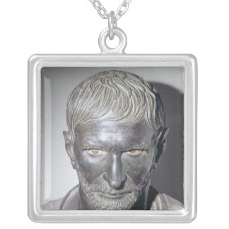 Capitoline Brutus, 4th-3rd century BC Silver Plated Necklace