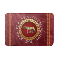 Capitoline She-Wolf Bathroom Mat