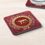 Capitoline Wolf Beverage Coaster
