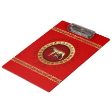 Capitoline Wolf Clipboard