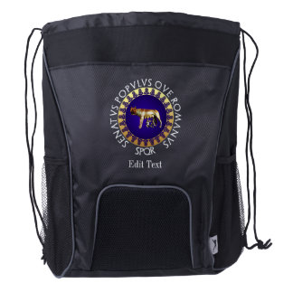 Capitoline Wolf Drawstring Backpack