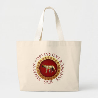 Capitoline Wolf Large Tote Bag