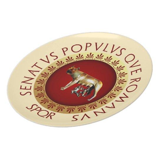 Capitoline Wolf Melamine Plate