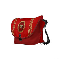 Capitoline Wolf Messenger Bags