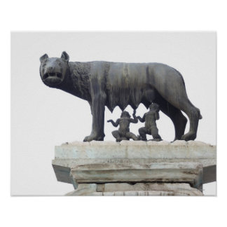 Capitoline Wolf Statue (She-wolf suckling), Poster