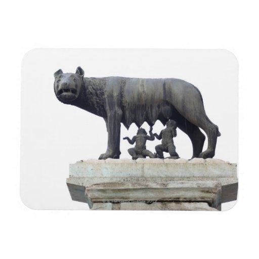 Capitoline Wolf Statue (She-wolf suckling), Vinyl Magnet
