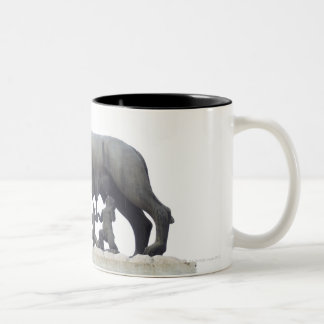 Capitoline Wolf Statue (She-wolf suckling), Two-Tone Coffee Mug