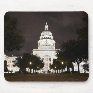 Capitolio de Austin, Tejas del estado en la noche Alfombrillas De Ratón