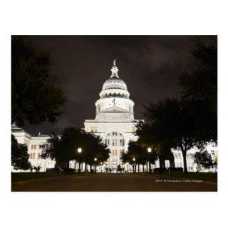 Capitolio de Austin, Tejas del estado en la noche Tarjetas Postales