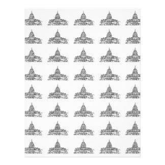 Capitolio de Estados Unidos que construye el libro Plantilla De Membrete