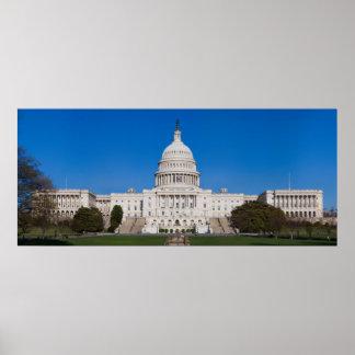 Capitolio de Estados Unidos que construye la visió Poster