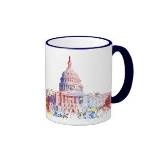 Capitolio de Estados Unidos Taza De Dos Colores
