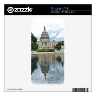 Capitolio de los E.E.U.U. de las reflexiones Skins Para iPhone 4S