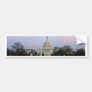 Capitolio de los E.E.U.U. en la oscuridad del invi Pegatina Para Auto