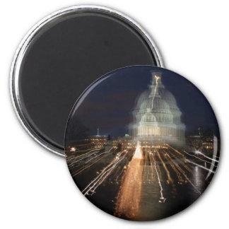 Capitolio de los E.E.U.U. que celebra la foto del  Imán Redondo 5 Cm