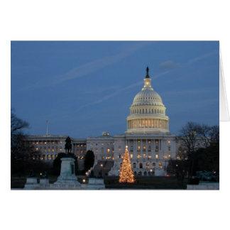 Capitolio de los E.E.U.U. que celebra la foto del  Tarjeta De Felicitación