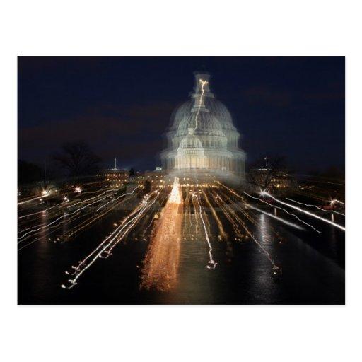 Capitolio de los E.E.U.U. que celebra la foto del Tarjetas Postales