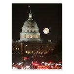 Capitolio de los E.E.U.U. que construye la Luna Ll Postales