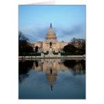 Capitolio de los E.E.U.U. y piscina de reflejo Not Tarjetón