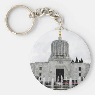 Capitolio de Oregon Llavero Redondo Tipo Pin