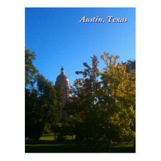 Capitolio de Tejas con los árboles Tarjeta Postal