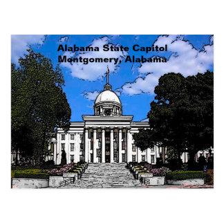 Capitolio del estado de Alabama en Montgomery (dib Tarjeta Postal