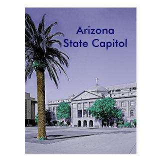 Capitolio del estado de Arizona retro con el tacto
