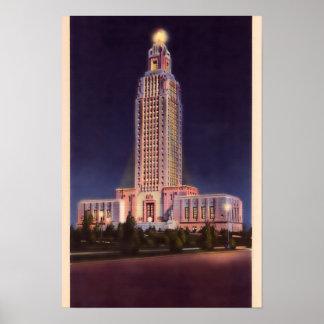 Capitolio del estado de Baton Rouge Luisiana Posters