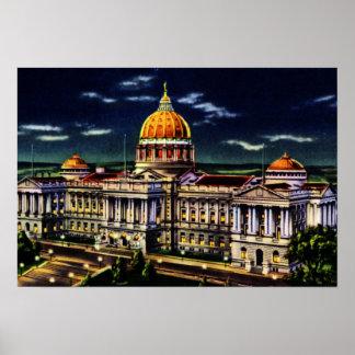 Capitolio del estado de Harrisburg Pennsylvania Posters