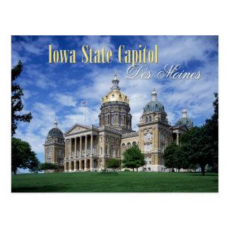 Capitolio del estado de Iowa en Des Moines Postales