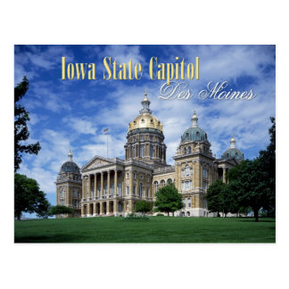 Capitolio del estado de Iowa en Des Moines Tarjetas Postales