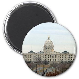 Capitolio del estado de Minnesota Imán Redondo 5 Cm