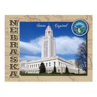 Capitolio del estado de Nebraska Lincoln Nebrask Postal