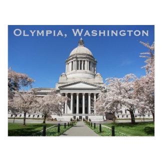 Capitolio del estado de Olympia, foto del viaje de Postal