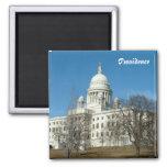 Capitolio del estado de Rhode Island Imán Cuadrado