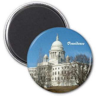 Capitolio del estado de Rhode Island Imán Redondo 5 Cm