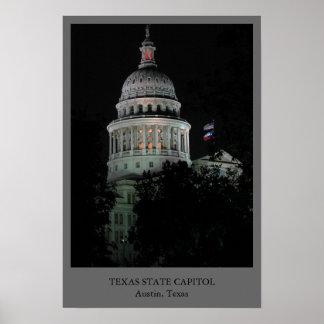 Capitolio del estado de Tejas Posters
